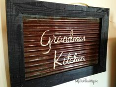 Rustic Wall Decor- Galvanized tin and pallet board repurposed upcycle