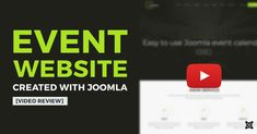 Building event website in 2 minutes video review! Joomla event template with easy to use free Joomla event calendar.  #Joomla #event #templates #free #events #calendar #video