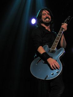 This guy is Awesome and Multi-talented as a musician.  I love his current band the Foo-fighters and loved him as a drummer in Nirvana and Queens of the Stone Age. - Dave Grohl