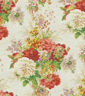 Home Decor Print Fabric-Waverly Ballad Bouquet/Radish