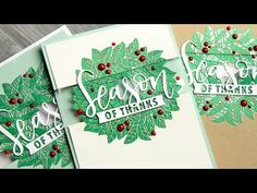 Clear Panel Card + Heat Embossing - YouTube