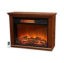 LifeSmart Lifepro Large Room Infrared Heater Fireplace