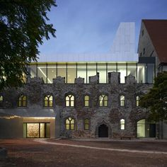 Beautiful extension to a museum inside a ruined castle in Halle, Germany, by Spanish studio Niento Sobejano Arquitectos