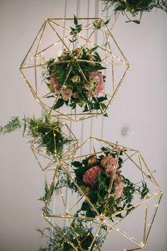Geometric hanging plants