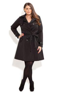 City Chic - TRENCH CORSET BACK - Women's plus size fashion