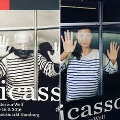 via Instagram domin.fotografie: #picassosfenster #lovethatshirt #Hamburg #picasso #edwardquinn #exhibition #photography #window