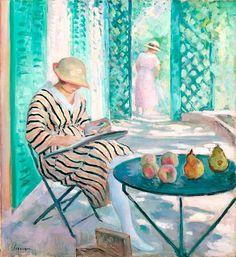 Henri Lebasque Nono à l'aquarelle Saint Tropez