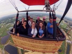 The ultimate selfie from 1,000 feet in the air. Orlando Balloon Adventures