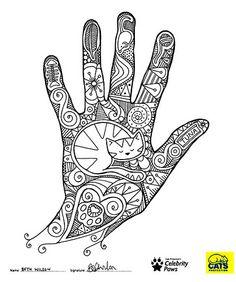 Lukuvuoden aloitukseen voisi sopia tällä tekniikalla tehtävä Luova käsi-työ. Piirrä käteen elämääsi iloa, valoa tuovia asioita, sinua kiinnostavia asioita yms. joista ammennat luovuutta.