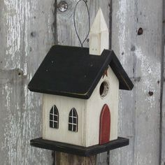 Church Birdhouse Primitive Country Church. $22.00, via Etsy.