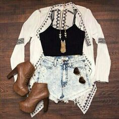 Cute Korean Summer Outfits near 7 Cute Casual Outfits For School With Jeans below Cute Outfits To Wear Cute Summer Outfits, Cute Casual Outfits, Spring Outfits, Chic Outfits, Rustic Outfits, Spring Wear, Summer Clothes, Teen Fashion Outfits, Outfits For Teens