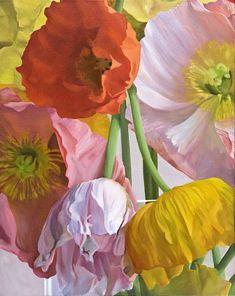 Don Rankin: Poppies (Study) #8, 2010, Painting.....http://www.donrankin-art.com/paintingslist