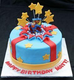 Superman Birthday Cake 310x336 Superman Birthday Cake
