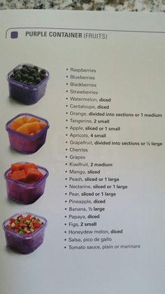 21 day fix purple containers fruits