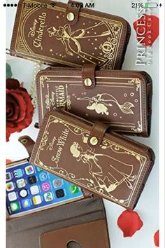 Disney princess iPhone 4/4s/5/5s/6/6 plus case old book case Snow White, Cinderella, Ariel little mermaid