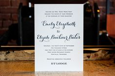 Hunt Wedding | The Happy Envelope  Custom letterpress wedding invitations / classic / navy / periwinkle / purple / polka dots / belly band / font mix / simple / classic / traditional / elegant