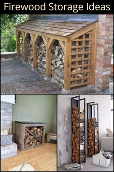 Storage Ideas Stack Your Firewood in Style With These Firewood Storage Ideas for Every Space and Budget!Stack Your Firewood in Style With These Firewood Storage Ideas for Every Space and Budget! Outdoor Firewood Rack, Firewood Holder, Firewood Shed, Firewood Storage, Outdoor Storage, Log Store, Wood Storage Sheds, Into The Woods, Outdoor Projects