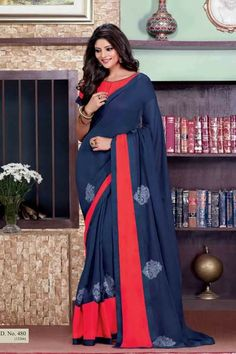 #party #saree @  http://zohraa.com/blue-faux-georgette-saree-z1409p480-149.html #partysarees #celebrity #zohraa #onlineshop #womensfashion #womenswear #bollywood #look #diva #party #shopping #online #beautiful #beauty #glam #shoppingonline #styles #stylish #model #fashionista #women #lifestyle #fashion #original #products #saynotoreplicas (Shipping : Your order will be shipped within 1 day from the date of purchase)