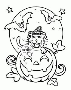 Happy Halloween Coloring Page  Halloween scene Your life and