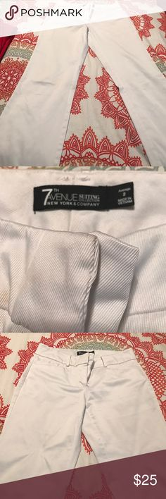 White Dress Pants Gently worn New York and Company 7th Ave Suiting Collection Size 2 Average New York & Company Pants Boot Cut & Flare