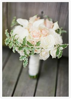 soft blush and green bouquet