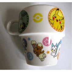 Pokemon Center 2007 Pikachu Pachirisu Buneary Piplup Chimchar Turtwig Lottery Ceramic Mug NOT SOLD IN STORES