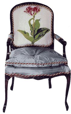 What a great way to upholster an old chair.  Bacon and Wing Trapunto