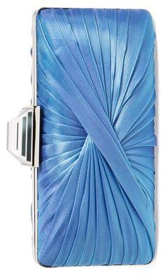 This stunning satin clutch would make a perfect 'something blue' for the bride…