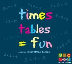Learning the Times Tables shouldn't be a chore, and ABC for Kids has made it so much fun. Each times table has been put to funky music that make learn Table For 12, Times Tables, Abc For Kids, Cool Things To Buy, Stuff To Buy, Activities For Kids, Education, Learning, Music
