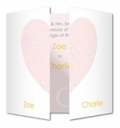 Glitter heart Wedding invitation by Planet Cards. Create a romantic wedding invite with a real glitter heart that opens in the middle to reveal your wedding invitation.