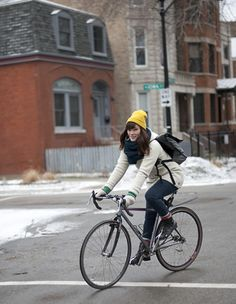 Bike Fancy: Katie G, Winchester Ave, and Iowa St, Chicago, IL