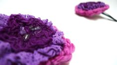Floral hair grips wool flower hair accessories by AislingDezines, £7.00