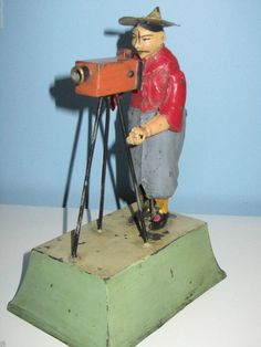 "RARE c1900s ""Gunthermann"", Germany Tin Wind Up Chinaman/ Clown Photographer Toy. $2100.00"