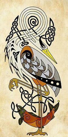 Celtic bird and fish