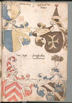 Wernigeroder (Schaffhausensches) Wappenbuch Süddeutschland, 4. Viertel 15. Jh. Cod.icon. 308 n  Folio 81r