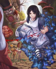 爱丽丝疯狂回归 Alice In Wonderland Artwork, Dark Alice In Wonderland, Alice Liddell, Lewis Carroll, Alice Sweet Alice, Alice Madness Returns, Video Games Girls, Estilo Anime, Arte Horror