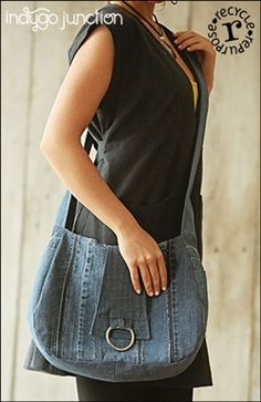 Give new life to your old denim jeans with Indygo Junction recycled sewing patterns!