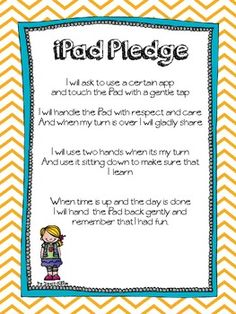 Good idea for a pledge for all kids to take before using iPads.