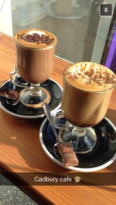 Cadbury cafe! Old gold mocha and caramello mocha :)
