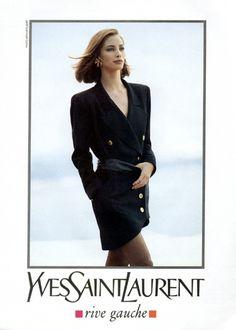 Christy for Yves Saint Laurent, by Arthur Elgort, 1990
