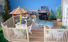DSC04012 - 1:6 scale doll house deck diorama for my Barbie & Fashion Royalty