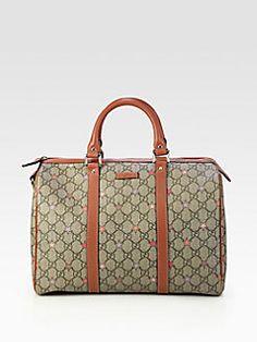 Gucci - Joy GG Supreme Stars Canvas Boston Bag