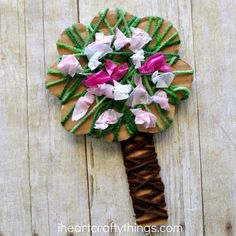 Oh how I love spring time and watching mother nature spring to life! One of my favorites is seeing trees start throwing out pretty pink and white blossoms. To celebrate the beautiful season of spring we made this pretty yarn wrapped blossoming spring tree craft. It is perfect for spring time and the yarn wrapping …