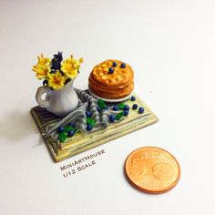 miniature composition with Russian pancake. made by Miniarthouse.