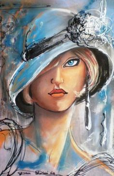 40 Ideas For Watercolor Art Face Eye Watercolor Art Face, Watercolor Paintings, Ink Illustrations, Woman Painting, Portrait Art, Face Art, Medium Art, Hats For Women, Pop Art
