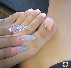 Looking for easy nail art ideas for short nails? Look no further here are are quick and easy nail art ideas for short nails. nails near me salon nails nails salon nails Continue Reading → Pretty Toe Nails, Gorgeous Nails, Bling Nails, My Nails, Glitter Nails, Pink Toe Nails, Glitter Uggs, Pink Toes, Sparkly Nails