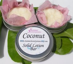 Solid Lotion Bar  COCONUT  Shea and Cocoa Butter, by SummerScentSations, $5.50