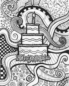 66 Best Zentangle Doodle Cakes And Cupcakes Images Drawings