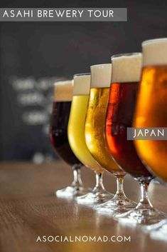 Everything you need to know about taking the FREE Asahi Brewery Tour and BEER TASTING n Japan – all the locations, how to book – what you'll see – how to get to the Asahi Breweries and what to expect.  Plus.  Of course.  Free Beer. #Japan #Travel #Beer #Tourism