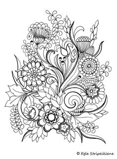Floral coloring page --> If you're looking for the top-rated adult coloring books and writing utensils including colored pencils, watercolors, gel pens and drawing markers, visit our website at http://ColoringToolkit.com. Color... Relax... Chill.